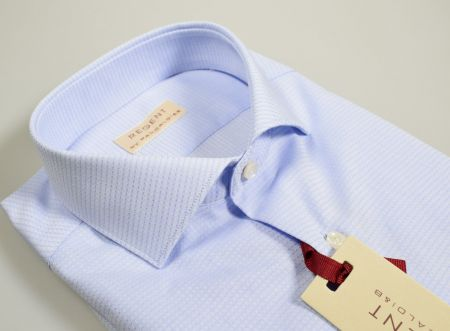 Camicia pancaldi collo francese slim fit celeste operato