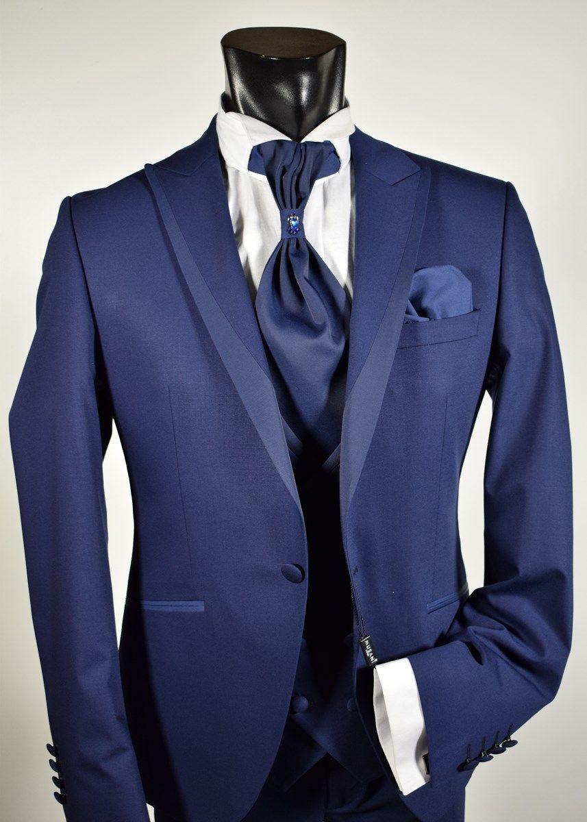 comprare popolare 4dfec 69565 Abito da sposo Musani cerimonia collezione 2019 Bluette slim fit