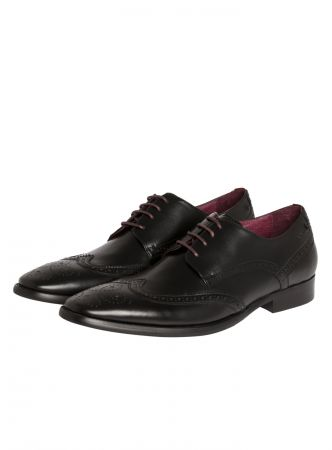 English Digel Derby black shoe in real leather