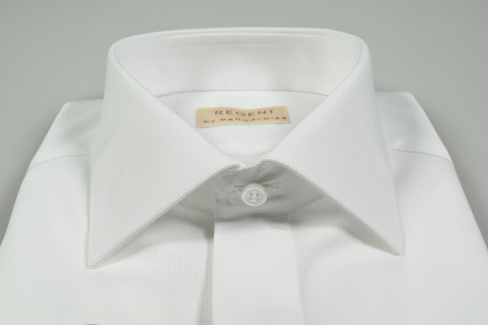 uk availability b8034 2b9af Camicia uomo elegante polso doppio da gemelli bianca slim fit