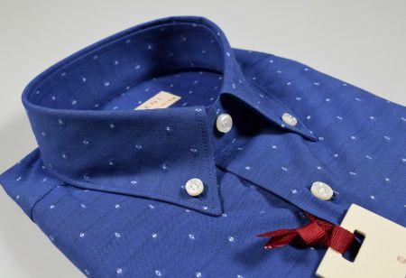 Camicia button down pancaldi azzurro scuro regular fit