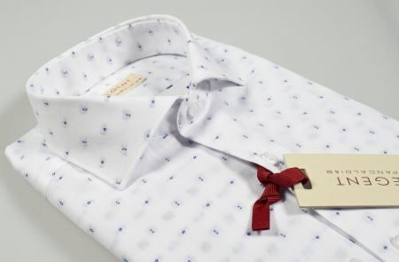 Pancaldi Slim Fit shirt with small embroidered blue design