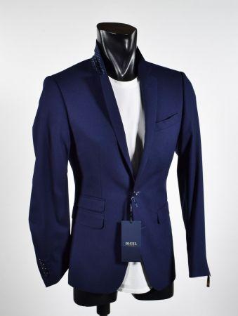 Digel fashion dress slim fit ticket poket blue and black