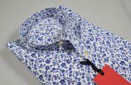 Ingram Shirt Mens Neck to Korean cotton floral print 2019 Spring summer