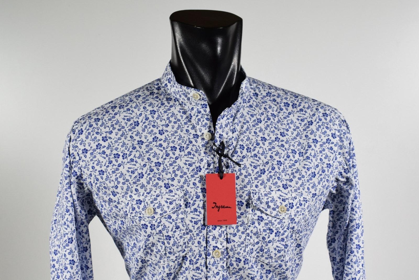 on sale a8c24 7609d Camicia uomo Ingram primavera estate 2019 collo alla coreana