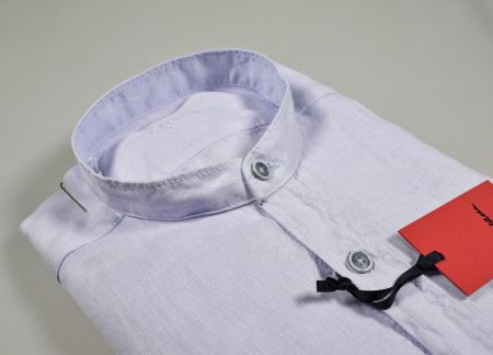 Ingram shirt in pure linen washed neck to Korean regular fit in three colors