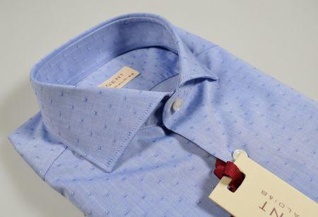 Camicia pancaldi celeste slim fit disegno piccolo stampato
