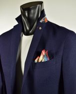 Slim fit Blue Jacket unlined Falko Rosso mixed Viscose