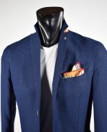 Giacca blu sfoderata slim fit misto viscosa made in italy