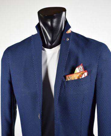 Blue Jacket unlined slim fit mixed viscose made in Italy