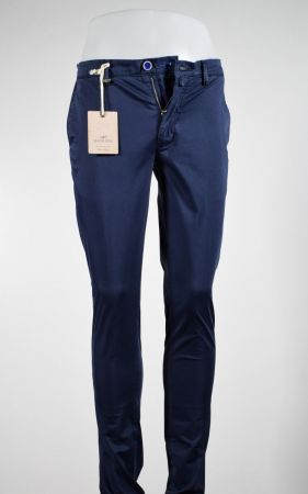 Pantalone slim fit quota otto cotone stretch in tre colori