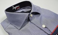 Camicia ingram slim fit cotone no stiro doppio ritorto collo francese