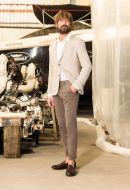Pantalone B700 slim fit cotone stretch in 5 colori made in italy