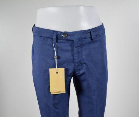 Pantalone bsettecento sim fit cotone stretch a pois piccolo