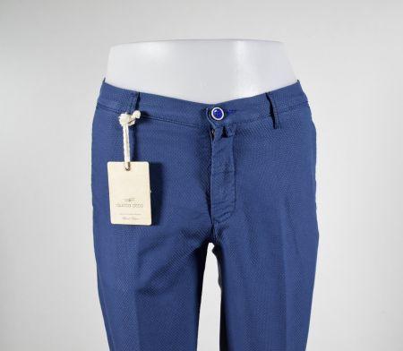 Pantalone slim fit in cotone operato quota otto in quattro colori