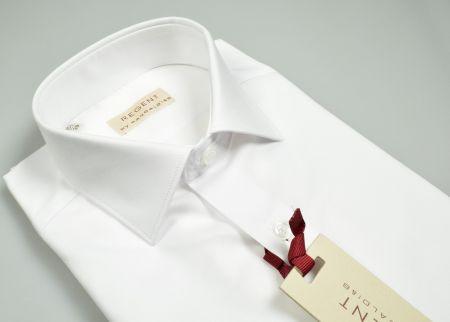 Camicia bianca slim fit pancaldi puro cotone collo mezzo francese