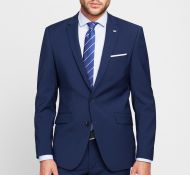 Abito digel in fresco lana marzotto super 100's bluette slim fit