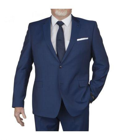 Abito digel blu marine taglie forti lana marzotto super 100's