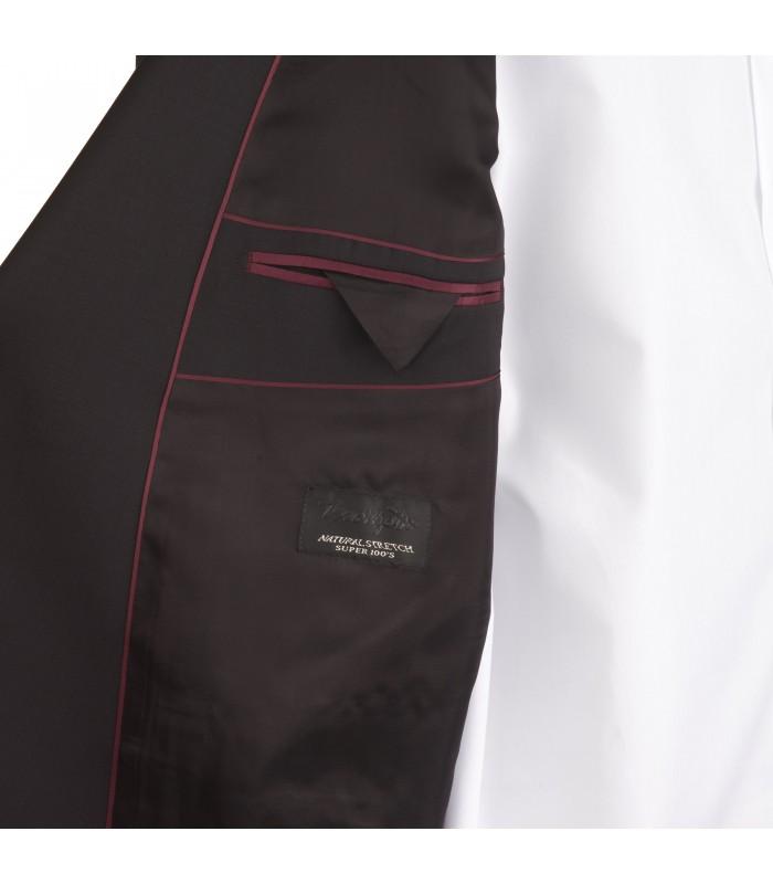 90997f3f9e52 ... Abito nero in lana marzotto super 100 s natural stretch taglie forti ...
