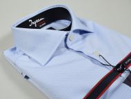 Double twisted cotton shirt Ingram no ironing slim fit