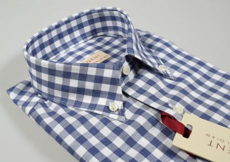 Camicia a quadri in flanella rasata pancaldi collo button down