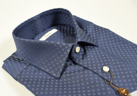 Camicia ingram a pois modern fit in due colori