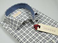 Camicia in flanella slim fit pancaldi grigio a quadri