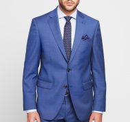 Formal Blue Marine dress Digel drop six modern fit pure wool Reda