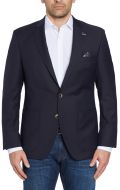 Digel Dark blue jacket in pure virgin marzotto wool with patch pockets