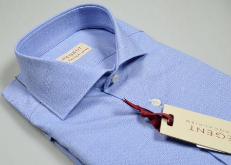 Camicia azzurra pancaldi slim fit collo francese in puro cotone