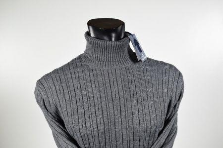 Maglione ocean star dolcevita a trecce misto lana in tre colori