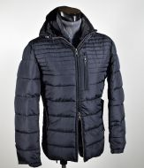 Short jacket blue talents with detachable hood regular fit