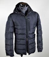 Short jacket blue talents with detachable hood regular fit