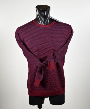 Ocean Star Round neck sweater made in Italy mixed wool knit