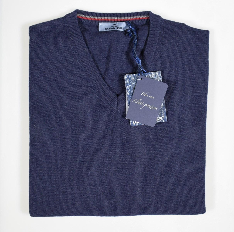 0516ecff9778 Maglione pullover classico da uomo scollo a V Ocean Star Made in ...