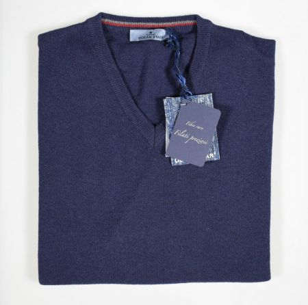 Maglione pullover scollo a V ocean star in quattro colori