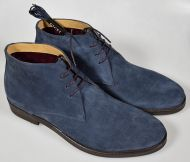 Shoes digel ankle boot in blue suede rubber bottom