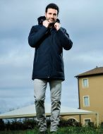 Parka adimari slim fit con cappuccio staccabile in eco piuma