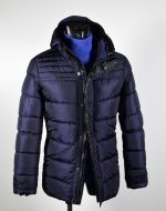 Talents jacket in eco-feather with detachable hood
