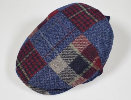 Blue Imor cap in pure merino wool made in Italy
