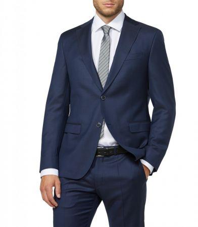 Abito digel drop quattro corto slim fit blu in pura lana zignone super 120's