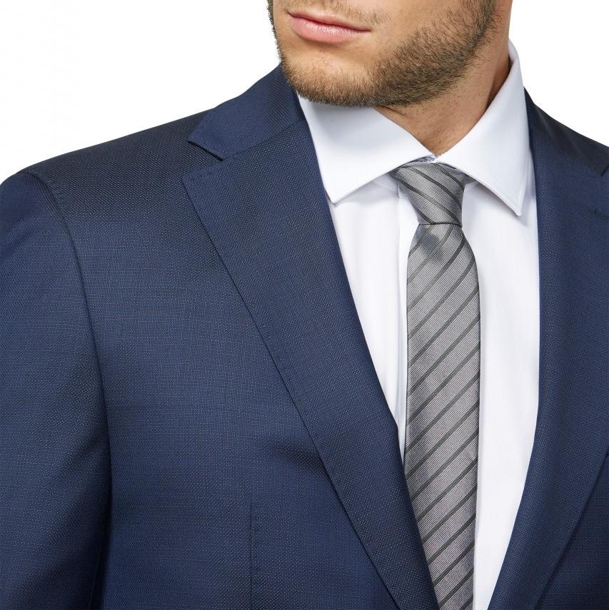 29f09317d2a7 ... Abito digel drop quattro corto slim fit blu in pura lana zignone super  120 s ...