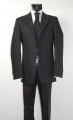 Luciano Soprani black pated dress with waistcoat and tie