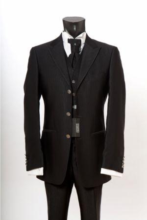 Dress shiny black ceremony luciano soprani