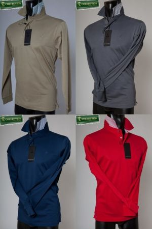 Cotton polo bramante in four colors