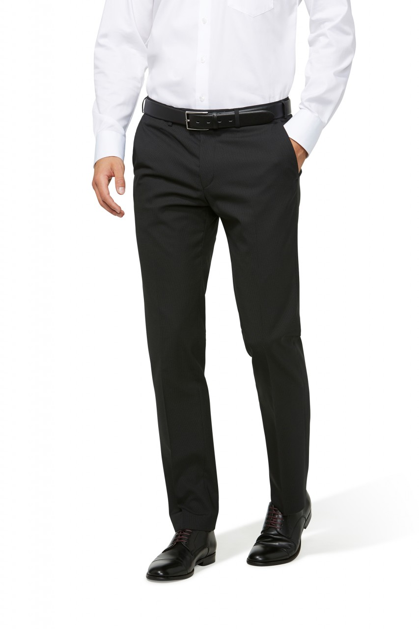 67c90b8f9dd486 ... Abito nero micro disegno Digel drop 4 corto slim fit lana stretch ...