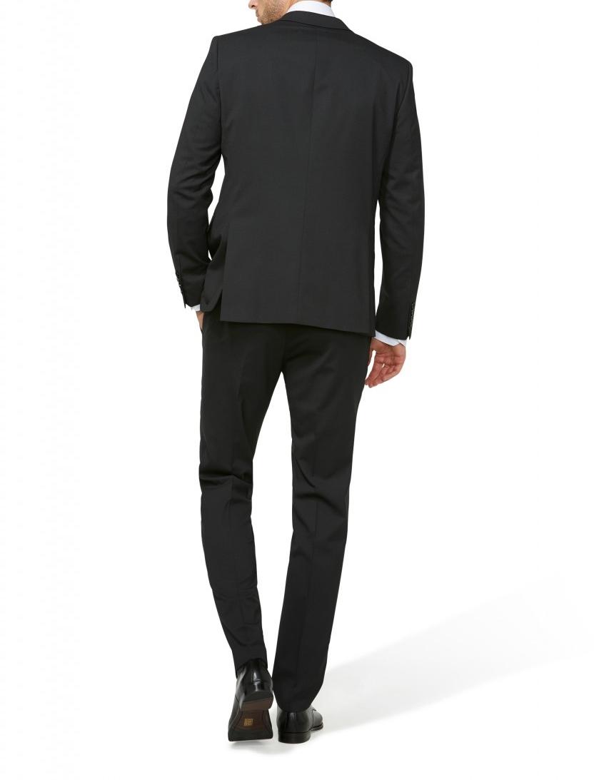 d092c3918933 ... Abito nero micro disegno Digel drop 4 corto slim fit lana stretch ...