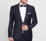 Blue slim fit stretch wool tuxedo digel ceremony