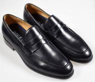Black and elegant leather moccasin shoe Digel