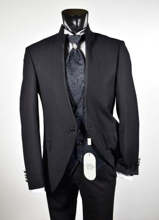 Black dress slim fit musani pattern ceremony korean